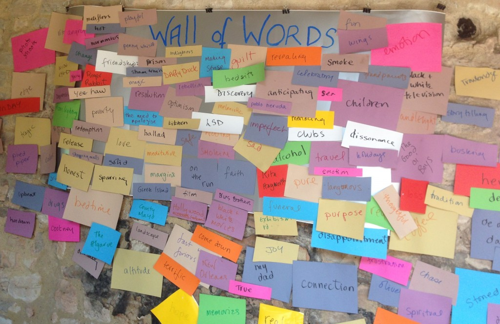cropped wall of words